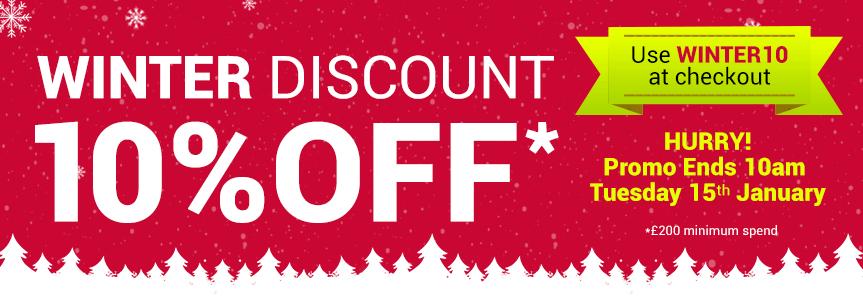 Winter Discount Banner