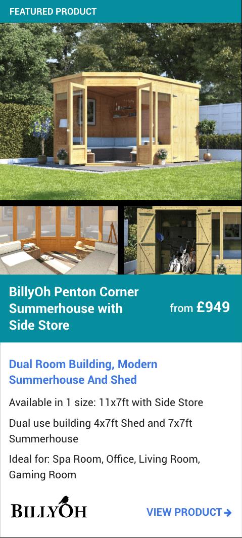 BillyOh Penton Corner Summerhouse with Side Store