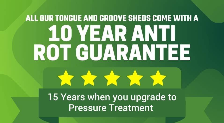 10 year anti rot guarantee