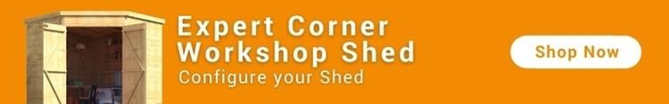 Expert Corner Workshop Shed
