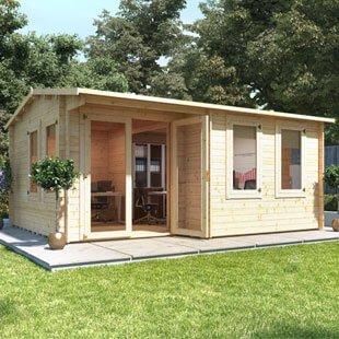 Log cabins for sale garden log cabins garden buildings for Garden log cabins uk