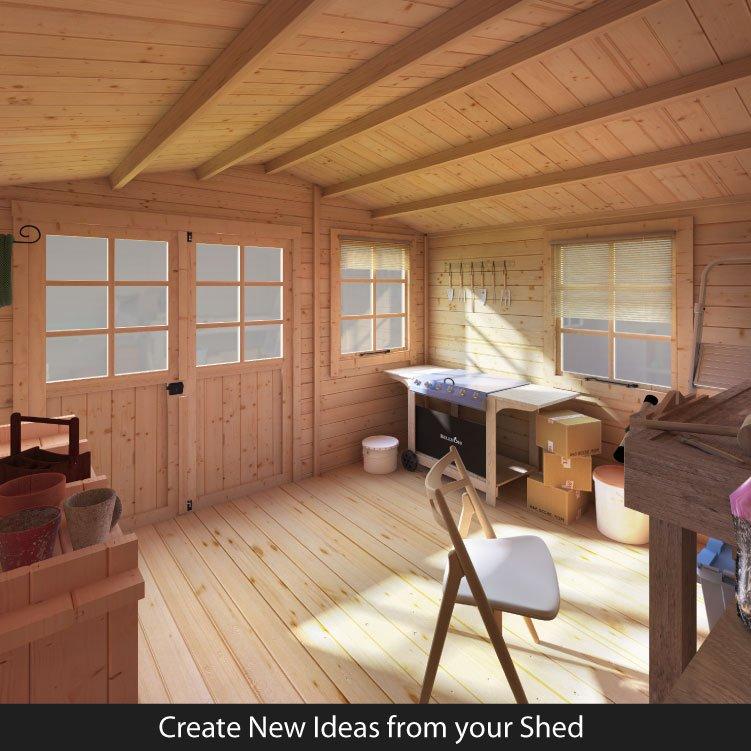 BillyOh Clubman Heavy Duty Shed Log Cabin