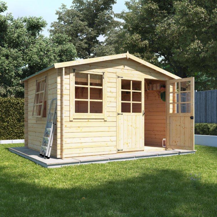 3.0m x 2.5m  BillyOh Clubman Heavy Duty Shed Log Cabin - 28