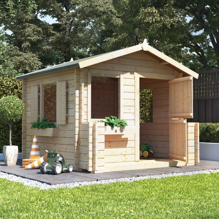 Billyoh junior log cabin playhouse log cabin playhouses for Children s garden sheds