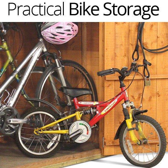 Outdoor Garden Bike Storage Shed Patio Wooden Box 6x3