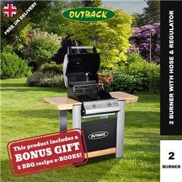 Outback Spectrum Hooded BBQ - 2 or 3 Burner with Hose & Regulator
