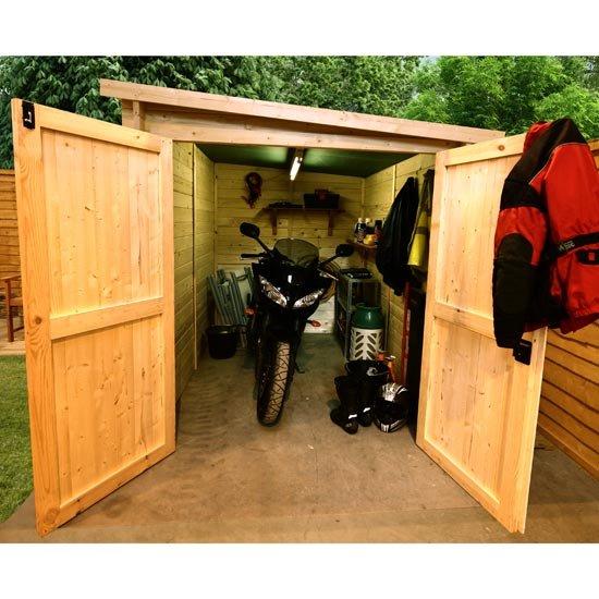 Garden Sheds 7 X 9 billyoh 28mm premium motorbike store - motorbike sheds - garden