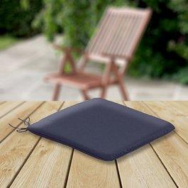 2 x Seat Pad Cushions - Navy Blue