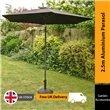 2.5m Sturdi Plus Aluminium Crank & Tilt Garden Parasol