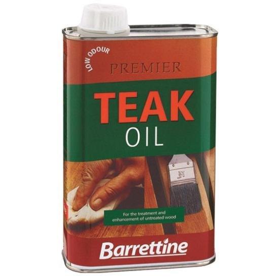 Barrettine Premier Low Odour Teak Oil for Garden Furniture