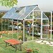 10 x 6 Silver Aluminium Greenhouse
