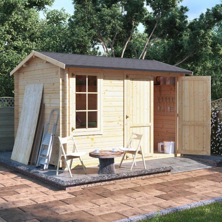 3.5m x 2.5m  BillyOh Traditional Log Cabin Workshop - 28,44