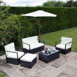 BillyOh Sandringham Rattan Sofa 4 Seater Set - Includes Cushions