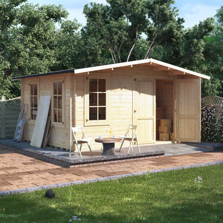 4.0 x 4.0  BillyOh Alpine Workshop Log Cabin - 28