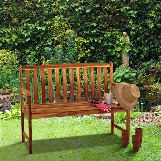 Alexander Rose Acacia Monte Carlo Garden Bench 4ft