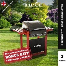 BillyOh Acorn Hooded Gas BBQ - 2,3,4 or 6 Burner with Hose & Regulator