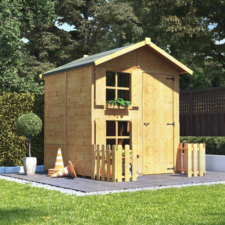 Peardrop Junior Wooden Kids Outdoor Playhouse 6 x 5 BillyOh