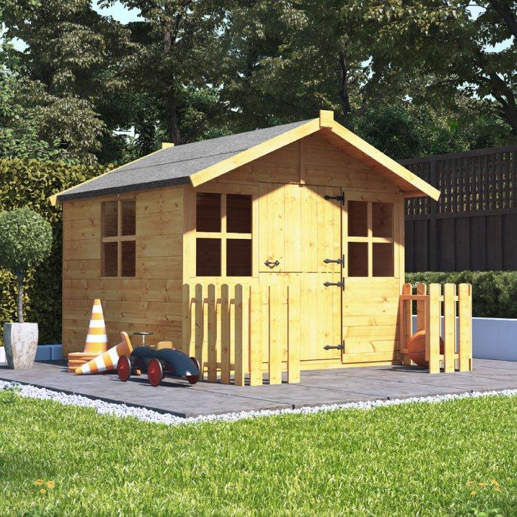 Billyoh 5x5 Junior Wood Playhouse Kids Outdoor Play House