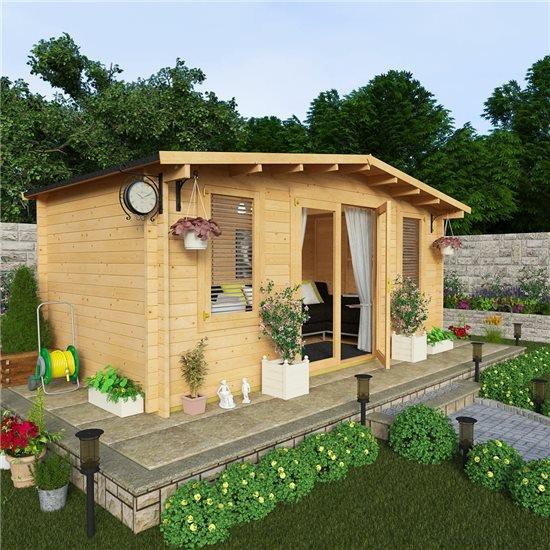 Billyoh winchester log cabin garden log cabins garden for Garden log cabins uk