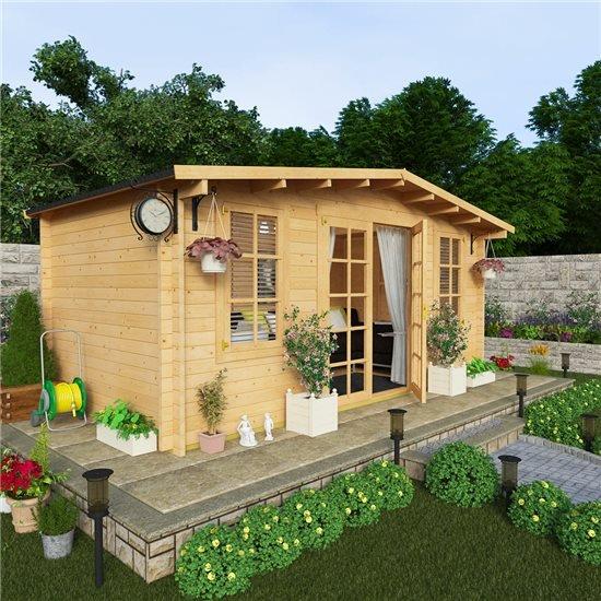 Billyoh winchester log cabin garden log cabins garden for Best garden studios