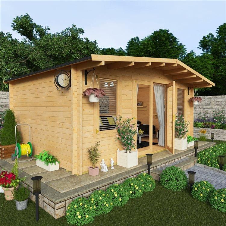 5.0 x 4.0m Log Cabin - BillyOh Winchester Premium Garden Log Cabin For Sale