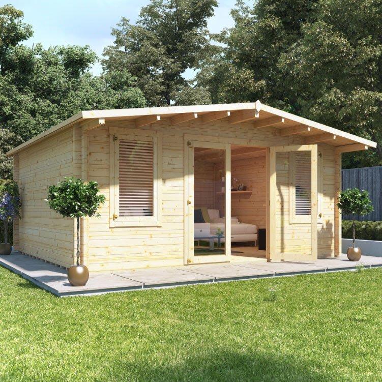 Billyoh winchester log cabin log cabins garden for Garden log cabins uk