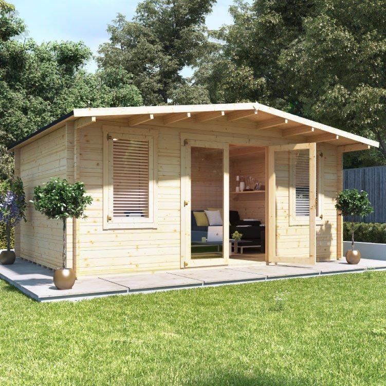 5.0m x 4.0m  BillyOh Winchester Log Cabin - 28,44