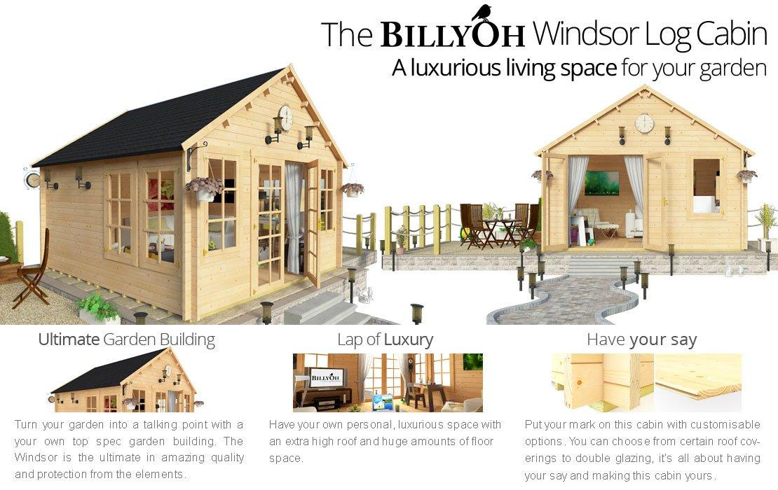 Billyoh Windsor Log Cabin Log Cabins Garden Buildings
