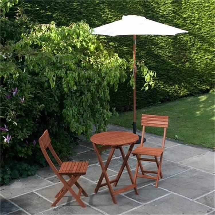Round Folding Chair Set