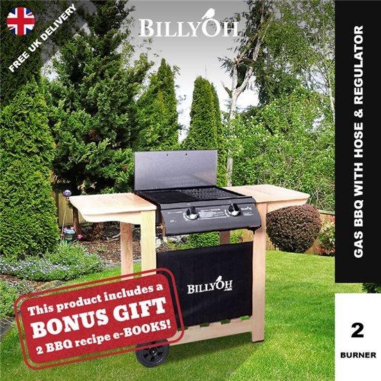 BillyOh Imperial Flat Bed Gas BBQ - 2 or 4 Burner with Hose & Regulator