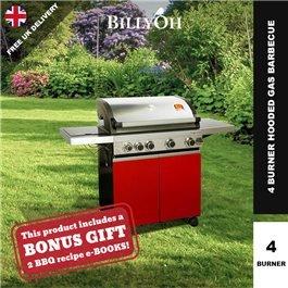 BillyOh Prestige Gourmet 4 Burner Grillstream Hooded Gas BBQ