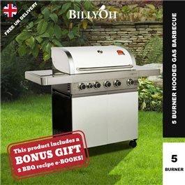 BillyOh Prestige Gourmet 5 Burner Grillstream Hooded Gas BBQ