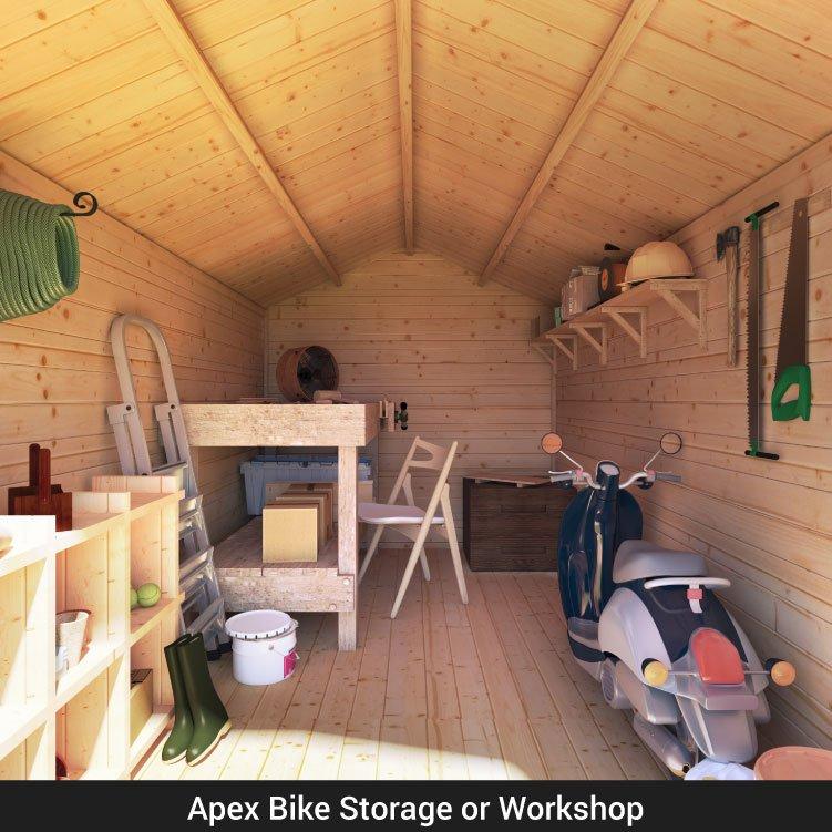 BillyOh Apex Log Cabin Windowless Heavy Duty Shed Range