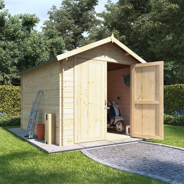 BillyOh Heavy Duty Apex Windowless Log Cabin Store