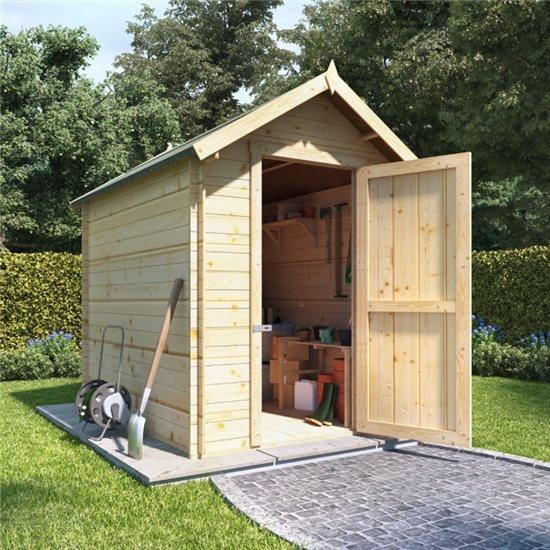 8 x 6 log cabin  BillyOh Apex Log Cabin Windowless Heavy Duty Shed Range - 19
