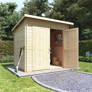 BillyOh Pent Log Cabin Windowless Heavy Duty Shed