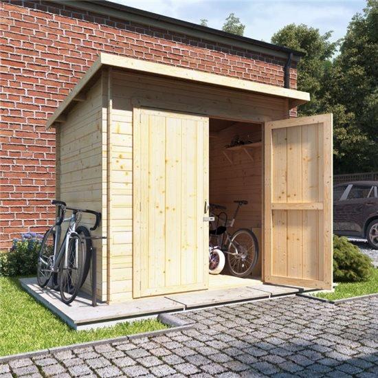 Technical Specifications - BillyOh Pent Log Cabin Windowless Heavy Duty Bike Store Range All Widths