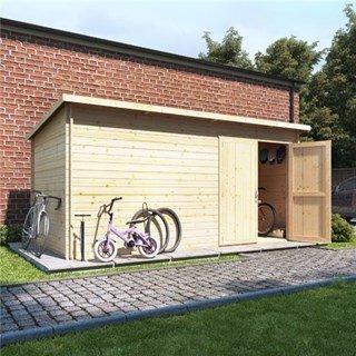 BillyOh Pent Log Cabin Windowless Heavy Duty Bike Store Range
