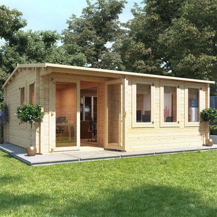 Kent Garden Office - 44mm Cladding - W5.5m  x D5.0m - BillyOh