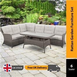 BillyOh Sala - 6 Seat Rattan Corner Dining Sofa Set