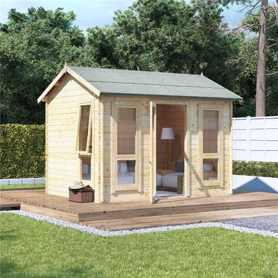 BillyOh Darcy Log Cabin Summerhouse - 8ft Deep Tech Details