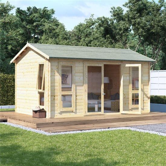 14 x10 moern bl oor  BillyOh Darcy Log Cabin Summerhouse - 19