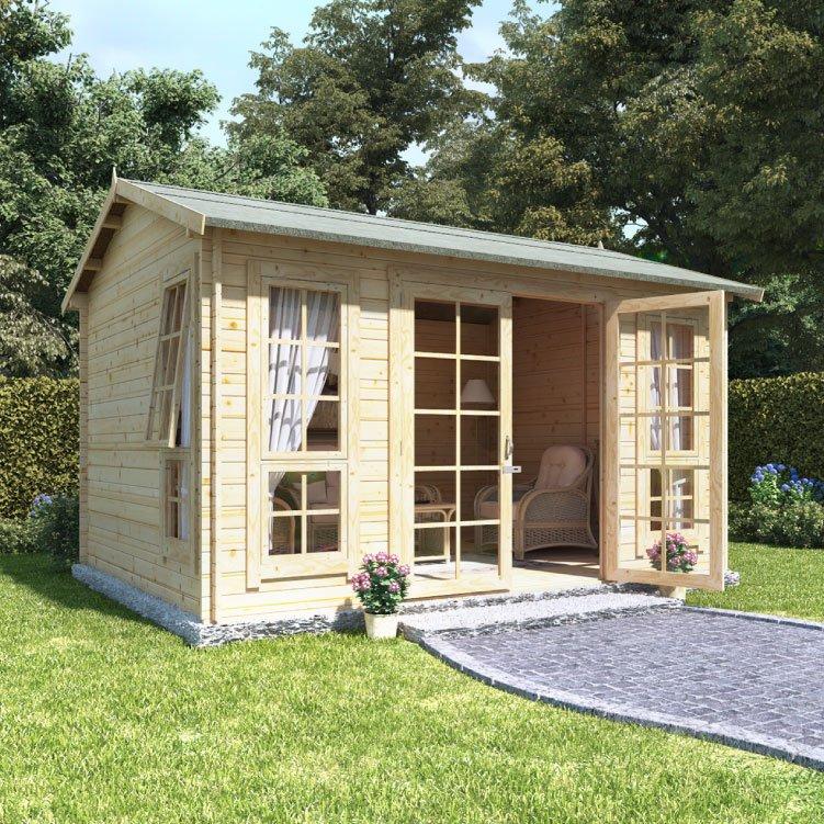 Billyoh riley log cabin summerhouse summer houses for Garden log cabins uk
