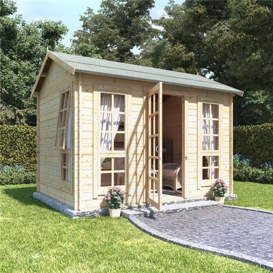10x8 georgian sgl oor  BillyOh Riley Log Cabin Summerhouse - 28