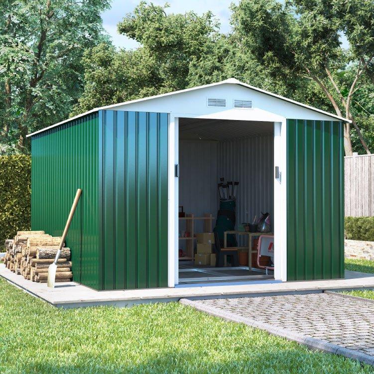 billyoh boxer apex metal shed metal garden workshops. Black Bedroom Furniture Sets. Home Design Ideas