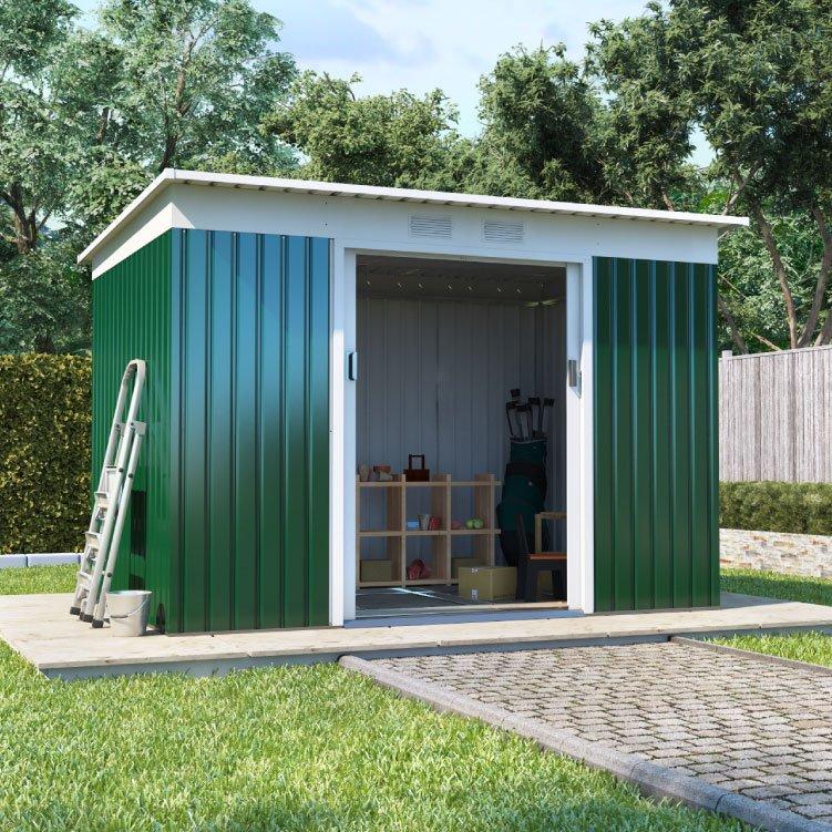 billyoh boxer pent metal shed metal garden workshops. Black Bedroom Furniture Sets. Home Design Ideas