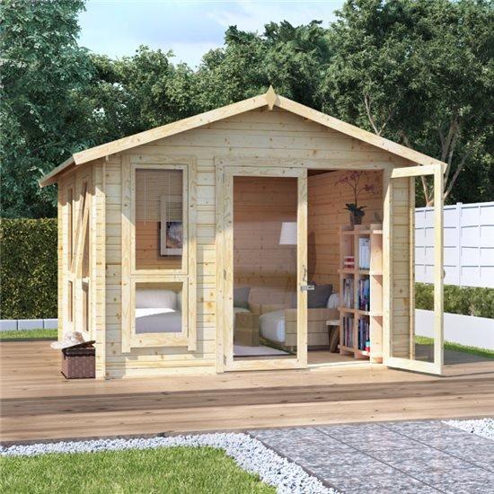 Image of 10 x 10 BillyOh Sasha Log Cabin Summerhouse - 19