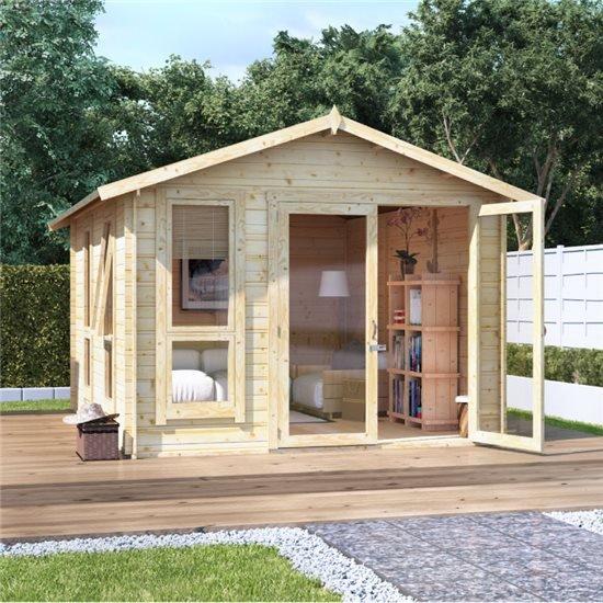 12x10 moern bl oor  BillyOh Sasha Log Cabin Summerhouse - 19