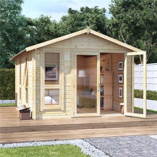 14 x 10  BillyOh Sasha Log Cabin Summerhouse - 28