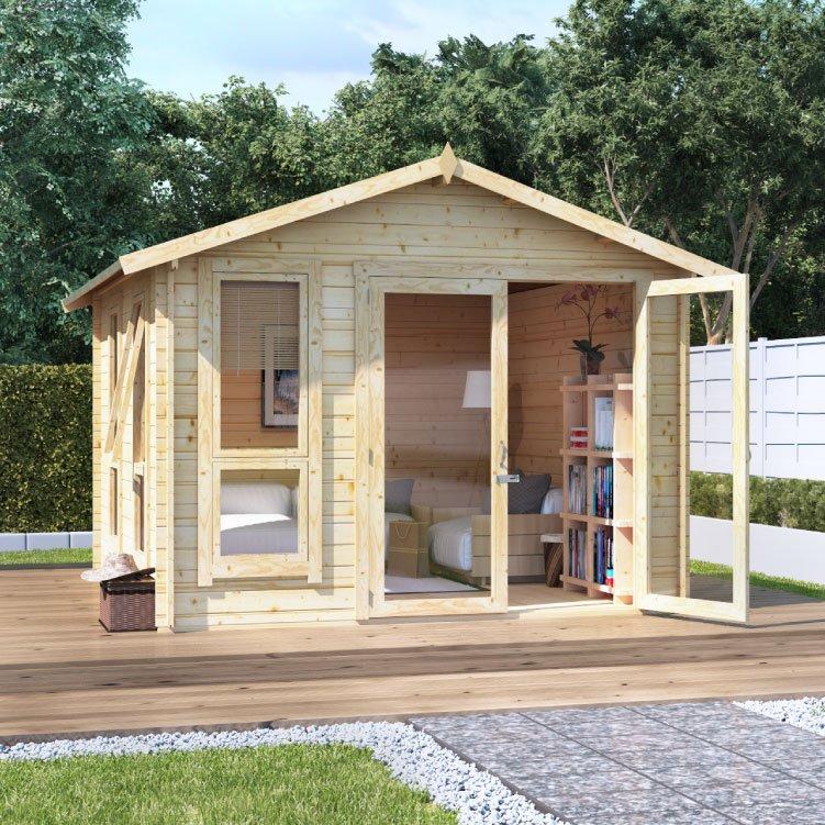 Billyoh sasha log cabin summerhouse summer houses for Garden log cabins uk